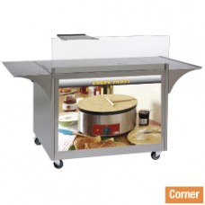 Stainless Steel Pancakes Cabinet On Wheels