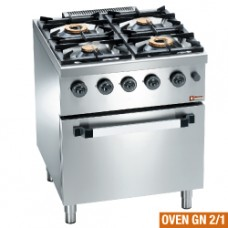 Gas Range 4 Burners, Gas Oven Gn 2/1