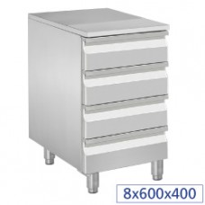 Case For Dough Roll, 4 Neutral Drawers