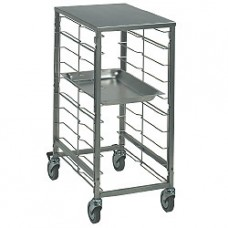 Plate Trolley 7xgn1/1-space 75mm+ss Top