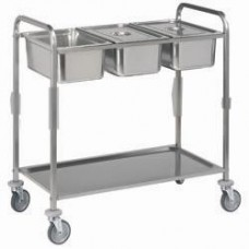 Ss Serving Trolley 3x Gn 1/1 + 1level