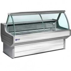 Refrigerated Glass Disp.curved Glass White