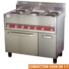 Electric Range 5 Plates, On Convection Oven