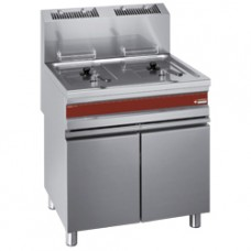 Gas Fryer Twin Tank 15 Litres On Cupboard