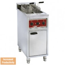 Electrical Fryer 2x 10 Lit On Undercarriage