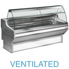 Refr. Display Counter - Curved Glass Vent.