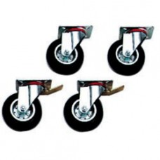 Kit 4 Wheels, 2 With  Brake 6 & 10 Gn1/1