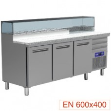 Cooling Table For Pizzeria, 3 Doors 600x400