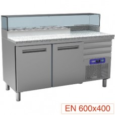 Cooling Table For Pizzeria, 2 Doors 600x400