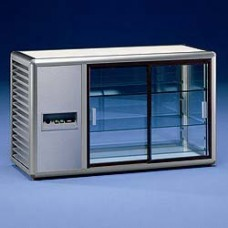 Refrigerated Display 3 Glass Sides -argento-