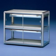 Heated Display Case 2 Levels - Argento