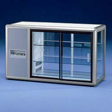 Refrigerated Display 3 Glass Sides -argento