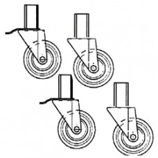 Kit Of 4 Wheels In S.s. Ø 100 (2 With Brakes