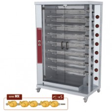 Chicken Gas Roaster 15 Spits With Wheels