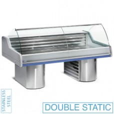 Refr. Counter With Curved Glass, On Bases