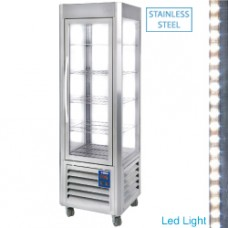 Ventilated Panora.display 360l 5shelves Ss