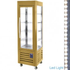 Ventilated Panora.display 360l 5shelves Gold