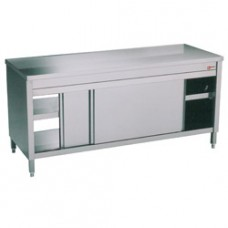 Table On Cupboard 4 Slid. Doors Pass Trough