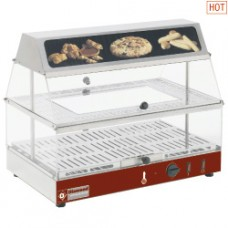 Heated Display Case With Illumin. Sign 2 Lev