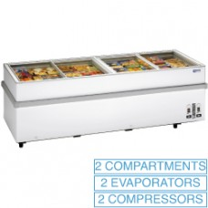 Panoramic Deep Freezer 2 Compressors 2 T°